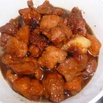 Porc au caramel sans gluten