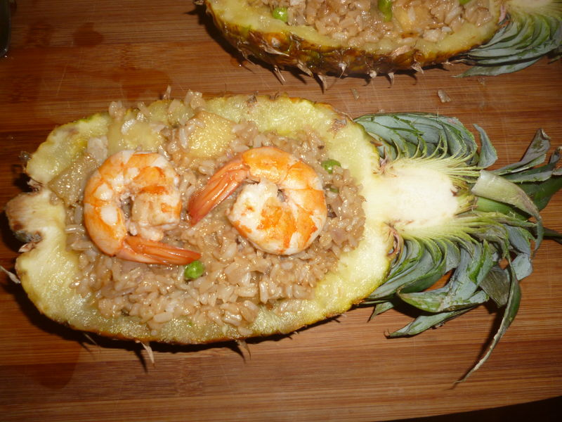 Riz sauté à l'ananas