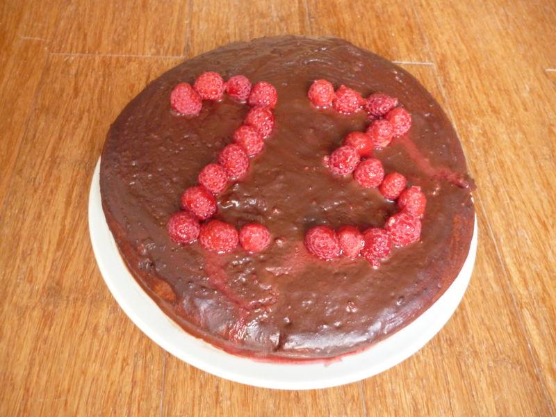 Gâteau Chocolat Framboise Sans Lait Sans Gluten