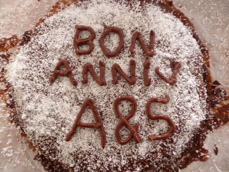 Gâteau d'anniversaire chocolat – crème de coco